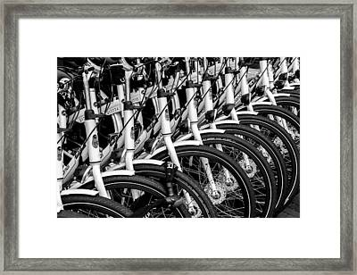 Bicycles Bicycles Bicycles Framed Print
