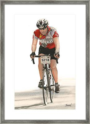 Framed Print featuring the painting Bicycles Have No Walls by Ferrel Cordle