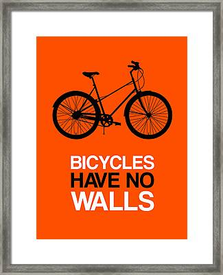 Bicycles Have No Walls Poster 1 Framed Print