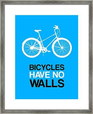Bicycles Have No Walls Poster 2 Framed Print by Naxart Studio