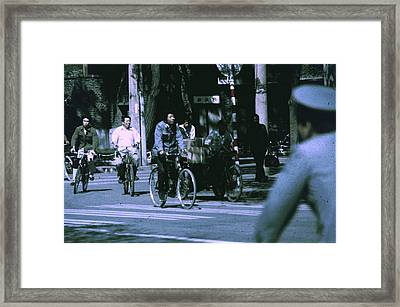 Bicycles In Beijing Framed Print