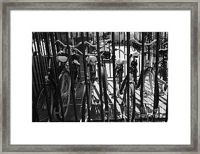 Framed Print featuring the photograph Bicycles by Maja Sokolowska