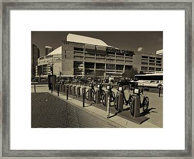 Bicycles On Bremner Framed Print by Nicky Jameson