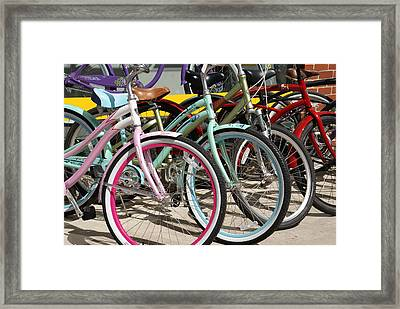 Bicycles Framed Print by Thomas Fouch
