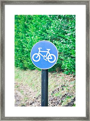 Bicyle Route Framed Print by Tom Gowanlock