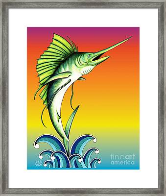 Bid For Freedom Framed Print by Sheryl Unwin