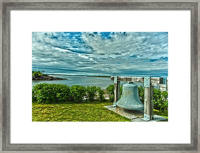 Biddeford Pool Bell Framed Print