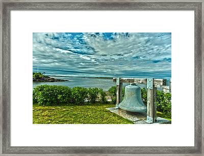 Biddeford Pool Bell Framed Print by Brenda Jacobs