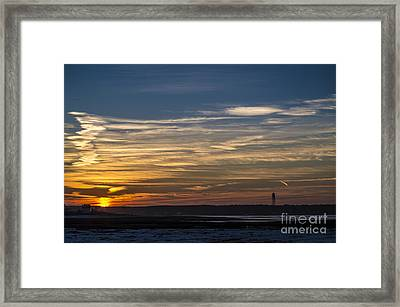 Biddeford Pool Maine Sunset Framed Print