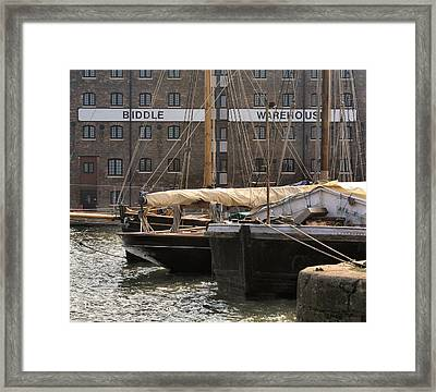 Framed Print featuring the digital art Biddle Warehouse by Ron Harpham