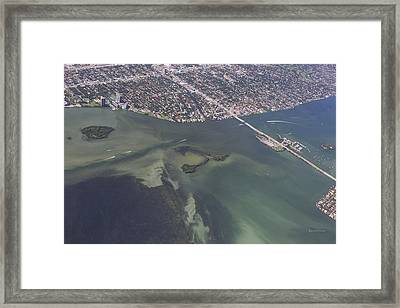 Bidr's Eye View Of Beautiful Miami Beachfront Framed Print by Angela A Stanton