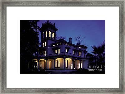 Bidwell Mansion, Chico State Framed Print
