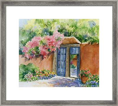 Framed Print featuring the painting Bien Venidos by Ann Peck
