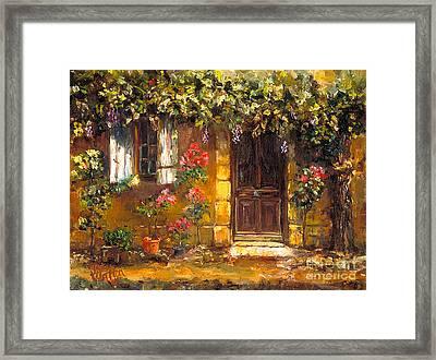 Bienvenue A' Provence Framed Print