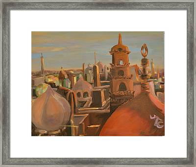 Framed Print featuring the painting Bienvenue Au Caire by Julie Todd-Cundiff