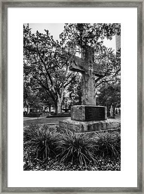 Bienville Cross Framed Print by Michael Thomas