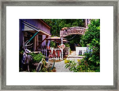 Bier Garten On Main Framed Print by Lynn Bauer