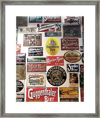 Bier Wall Framed Print
