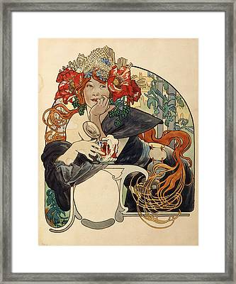 Biere De La Meuse,  Polychrome Gouache On Buffed Paper Framed Print
