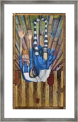 Big Alice Little Door Framed Print by Kelly Jade King