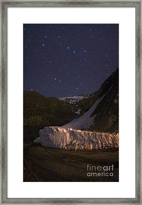 Big And Little Dippers Framed Print by Babak Tafreshi