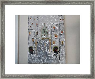 Big Apple Christmas Framed Print