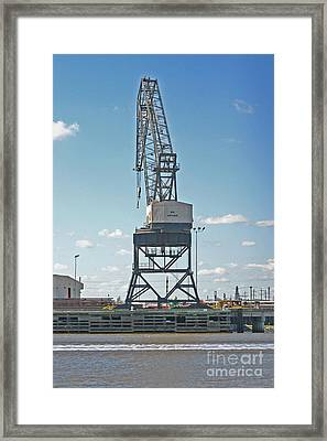 Big Arthur At Port Arthur Texas Framed Print