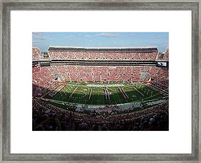 Big Bama Spell Out Framed Print by Kenny Glover