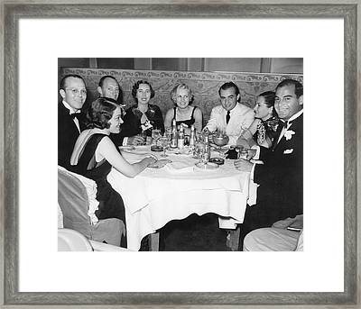 Big Band Dining In La Framed Print by Underwood Archives