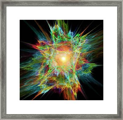 Big Bang Conceptual Artwork Framed Print
