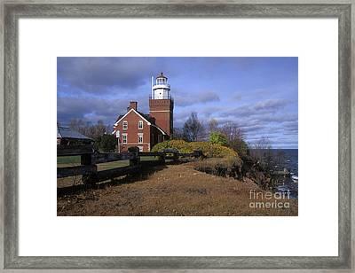 Big Bay Point Lighthouse - Fs000622 Framed Print by Daniel Dempster