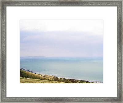 Big Beachy Head Sky Framed Print by Connie Handscomb