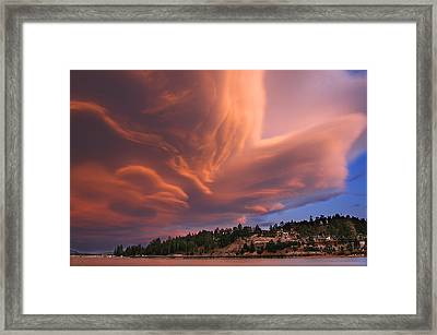 Big Bear Lake Storm Framed Print