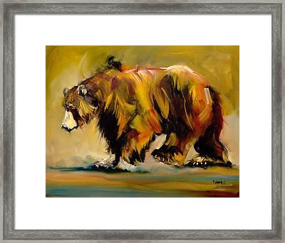 Big Bear Walking Framed Print