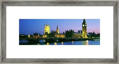 Big Ben And Houses Of Parliament Framed Print by Panoramic Images