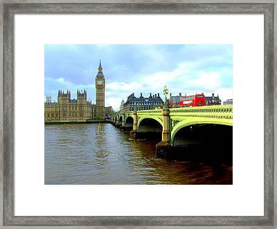 Big Ben And River Thames Framed Print