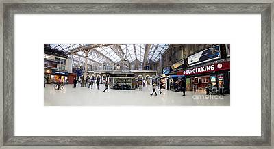 Charing Cross Station Panorama Framed Print