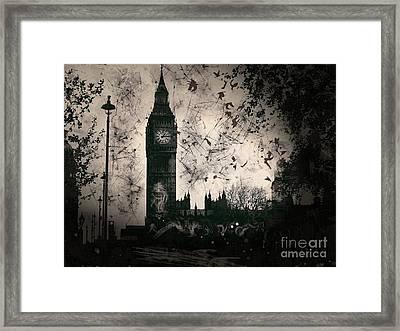 Big Ben Black And White Framed Print