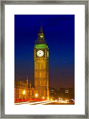 Big Ben By Night Framed Print
