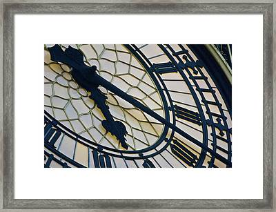 Big Ben Clock Face, London, England Framed Print