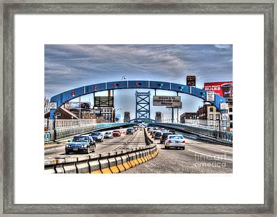 Big Ben Franklin Bridge Framed Print