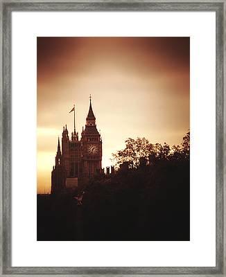 Big Ben In Sepia Framed Print