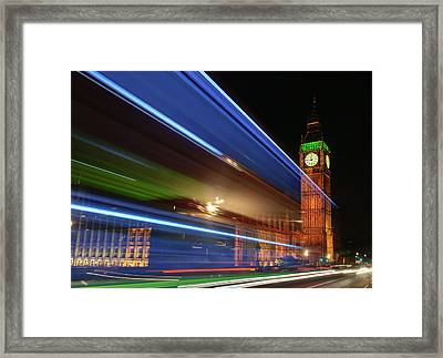Big Ben Light Trails Framed Print by Ivelin Donchev