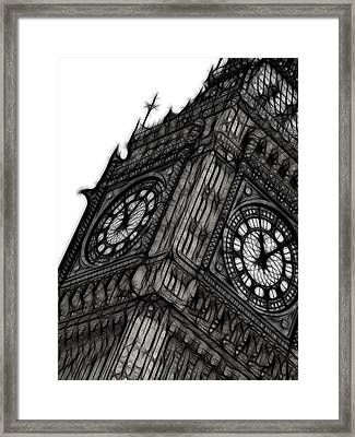Big Ben London Digital Apinting Framed Print