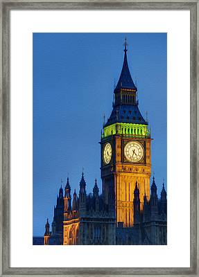 Big Ben London Digital Painting  Framed Print