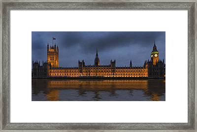 Big Ben Parliament London Digital Painting Framed Print