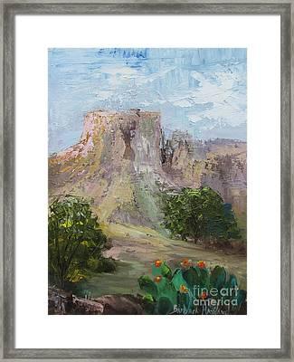 Big Bend Mesa  Framed Print