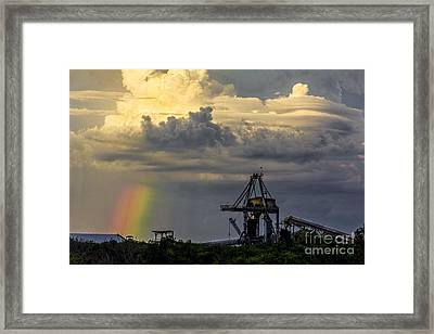 Big Bend Rainbow Framed Print