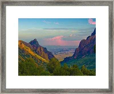 Big Bend Texas From The Chisos Mountain Lodge Framed Print