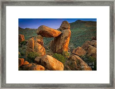 Big Bend Window Rock Framed Print by Inge Johnsson